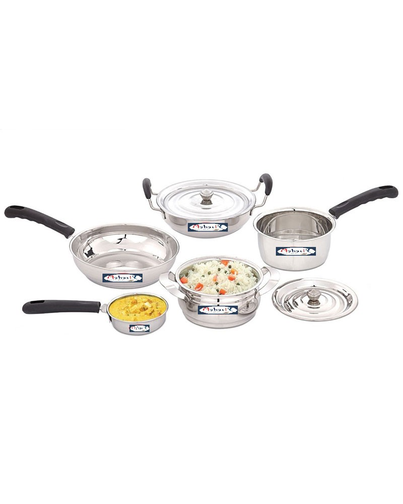 30e2023d3c0 Mahavir 7Pc Induction Base Stainless Steel Cookware Set-7CCINDCK