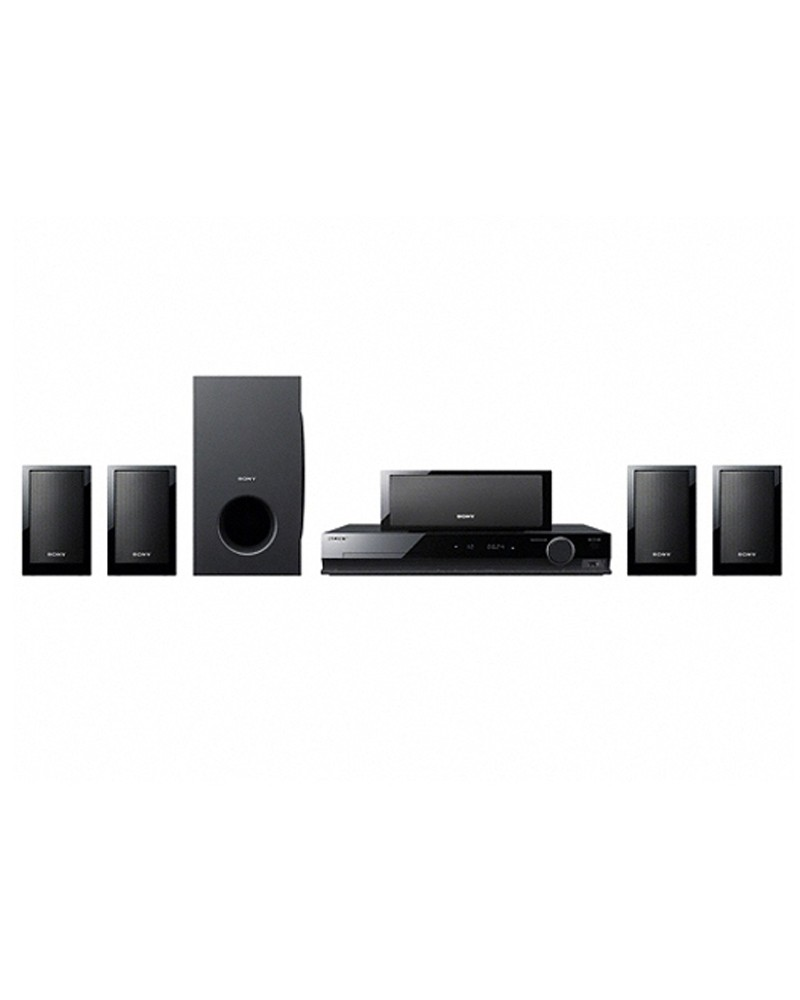 buy sony 5 1 dvd home theatre system 600 w rms dav tz215 best price chennai india. Black Bedroom Furniture Sets. Home Design Ideas